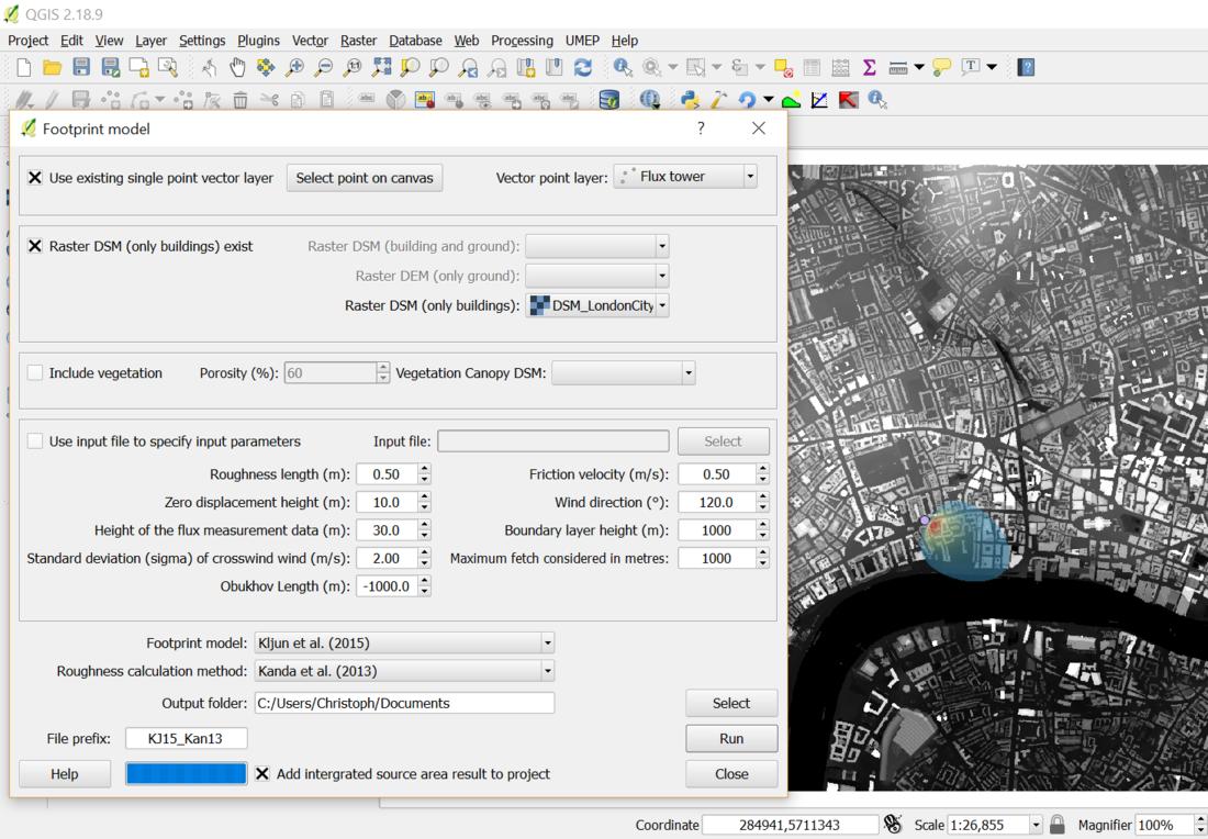 Footprint modelling — UMEP Tutorial documentation